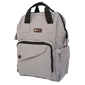 38b349631da5 Compact Diaper Backpack – Multifunctional Unisex Diaper Bag Tote and Baby  Bag Backpack for New Mom