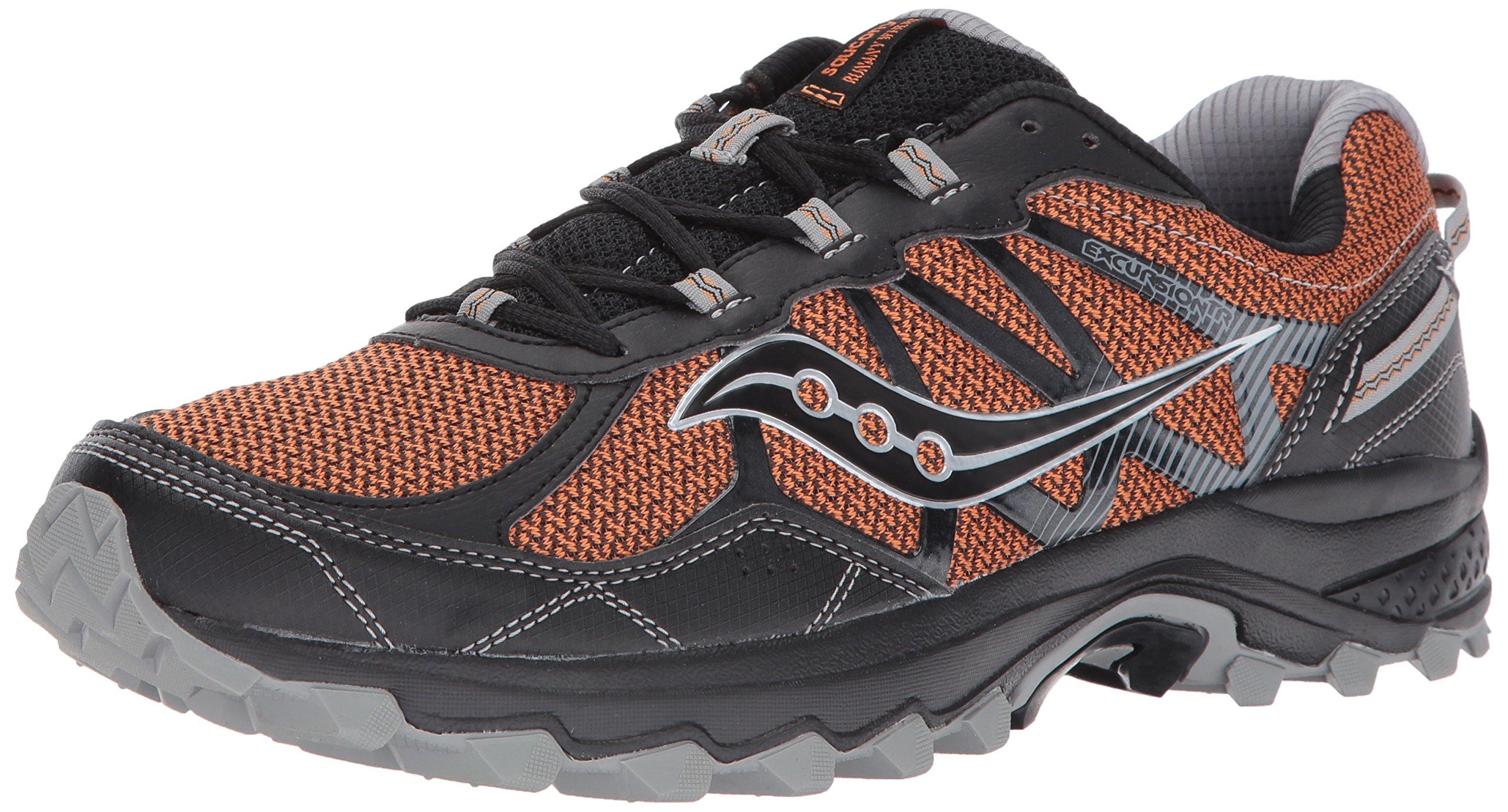 Saucony Men's Excursion TR11 Running Shoe, Orange Black, 7 Medium US