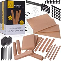 MALUVRIAN Arts and Craft Kit for Kids Extra Foam Wood Kit with 18 Pieces of Craft Foam Wood Screws and Nails Kids Tool…