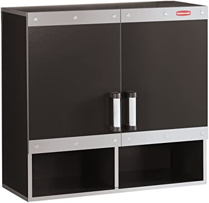 Rubbermaid Fast Track Garage Storage System Wall Cabinet, FG5M1600CSLRK