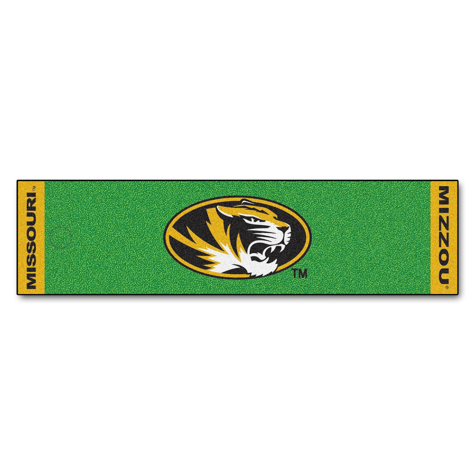 NCAA University of Missouri Tigers Putting Green Mat Golf Accessory