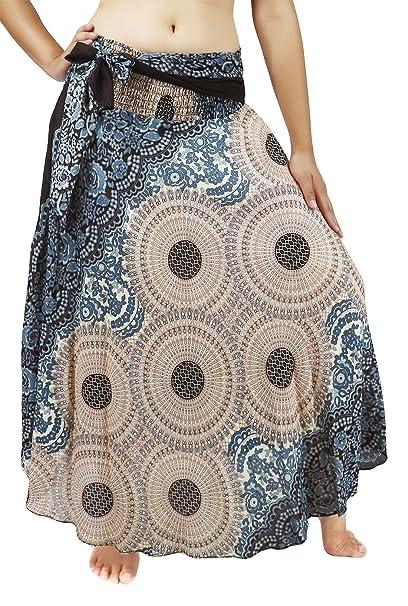 bde444799 Lovely Creations Women Long Bohemian Maxi Skirts Midi Dress US Size 0-16 (AS