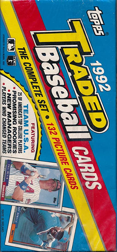 Amazoncom 1992 Topps Traded Baseball 132 Card Factory Sealed Set