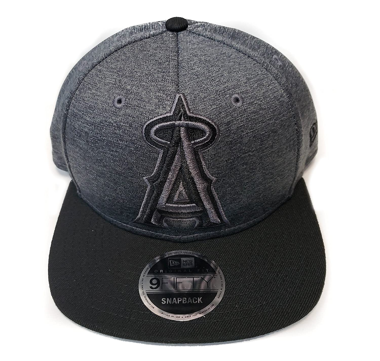 6145b86f173 New Era Anaheim Angels 9Fifty Heather Action Grey Adjustable Snapback Hat  MLB