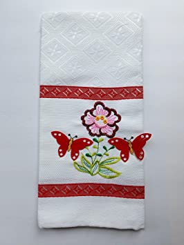 "Gran tamaño toalla/toalla de cocina con bordado y Applique. Top quality18 """