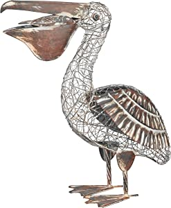 Regal Art and Gift 10278 Rustic Pelican Decor, White, Brown, Yellow