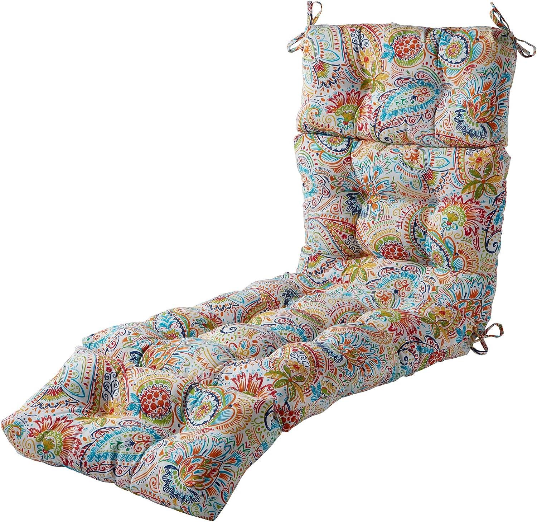 Greendale Home Fashions AZ4804-JAMBOREE Jubilee 72 x 22-inch Outdoor Chaise Lounge Cushion