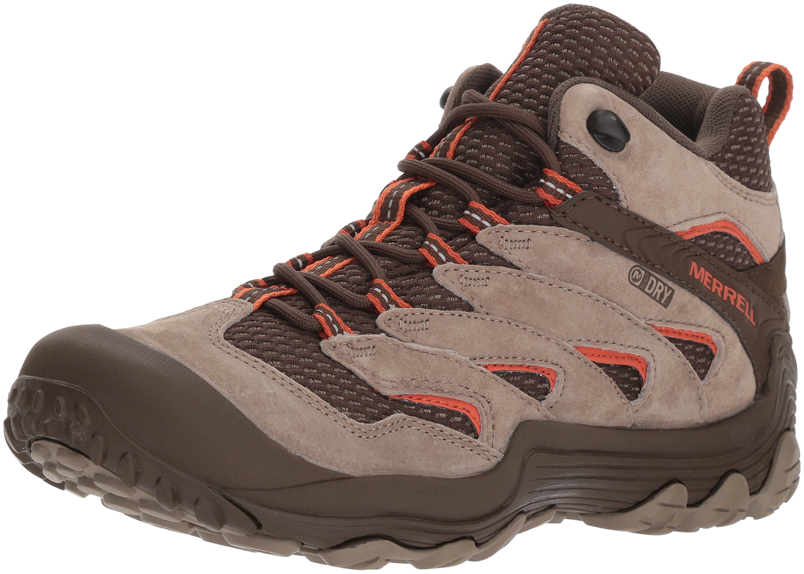 Merrell Women's Chameleon 7 Limit Mid Waterproof Hiking Boot, Brindle, 9.5 Medium US