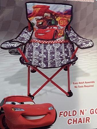 Superbe Disney Pixar Cars Lightning McQueen And Mater Fold N Go Folding Chair Kids