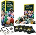NATIONAL GEOGRAPHIC Rock Tumbler Refill Kit - Gemstone Mix of 9 Varieties Including Tiger's Eye, Amethyst and Quartz - Comes with 4 grades of Grit, Jewellery Fastenings and Detailed Learning Guide