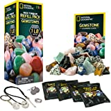 NATIONAL GEOGRAPHIC Rock Tumbler Refill Kit - Gemstone Mix of 9 Varieties Including Tiger's Eye, Amethyst and Quartz…