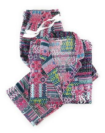 ed8c11e607 Victoria s Secret Dreamer Flannel Pajama Set Patchwork X-Large at Amazon  Women s Clothing store
