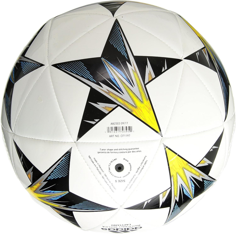 adidas Performance Finale Kiev Tapa Bola, Blanco, tamaño 4: Amazon ...