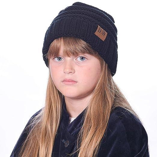 89d3ca05968 Debra Weitzner Beanie Hats for Kids Unisex Winter Slouchy Beanie for Girls Boys  Toddlers Black