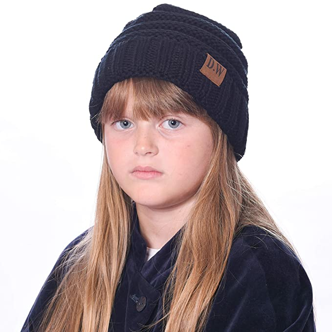 4a11d18d857c Debra Weitzner Beanie Hats for Kids Unisex Winter Slouchy Beanie for Girls Boys  Toddlers Black