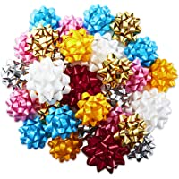 Hallmark Gift Bow Assortment (30 Bows, 2 Sizes) Red, White, Pink, Blue, Yellow, Silver, Gold for Christmas, Hanukkah…