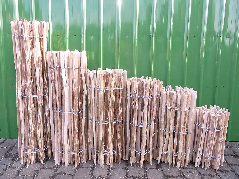 Staketenzaun Lärche in 12 verschiedenen Größen 5 m (500 cm) (150 x 500 cm (Lattenabstand: 3-5 cm))