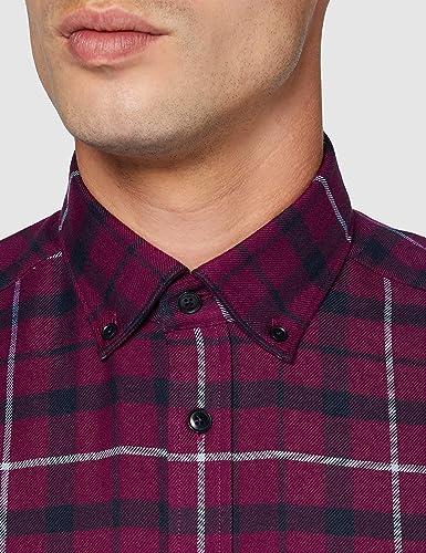 Seidensticker Regular Langarm Karo Flanell Camisa de Vestir para Hombre