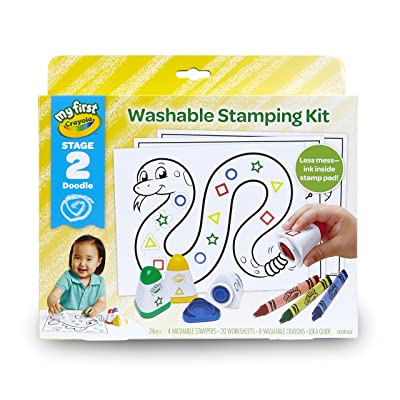 Crayola My First Washable Stamps and Crayons, Activity Set, Gift: Toys & Games