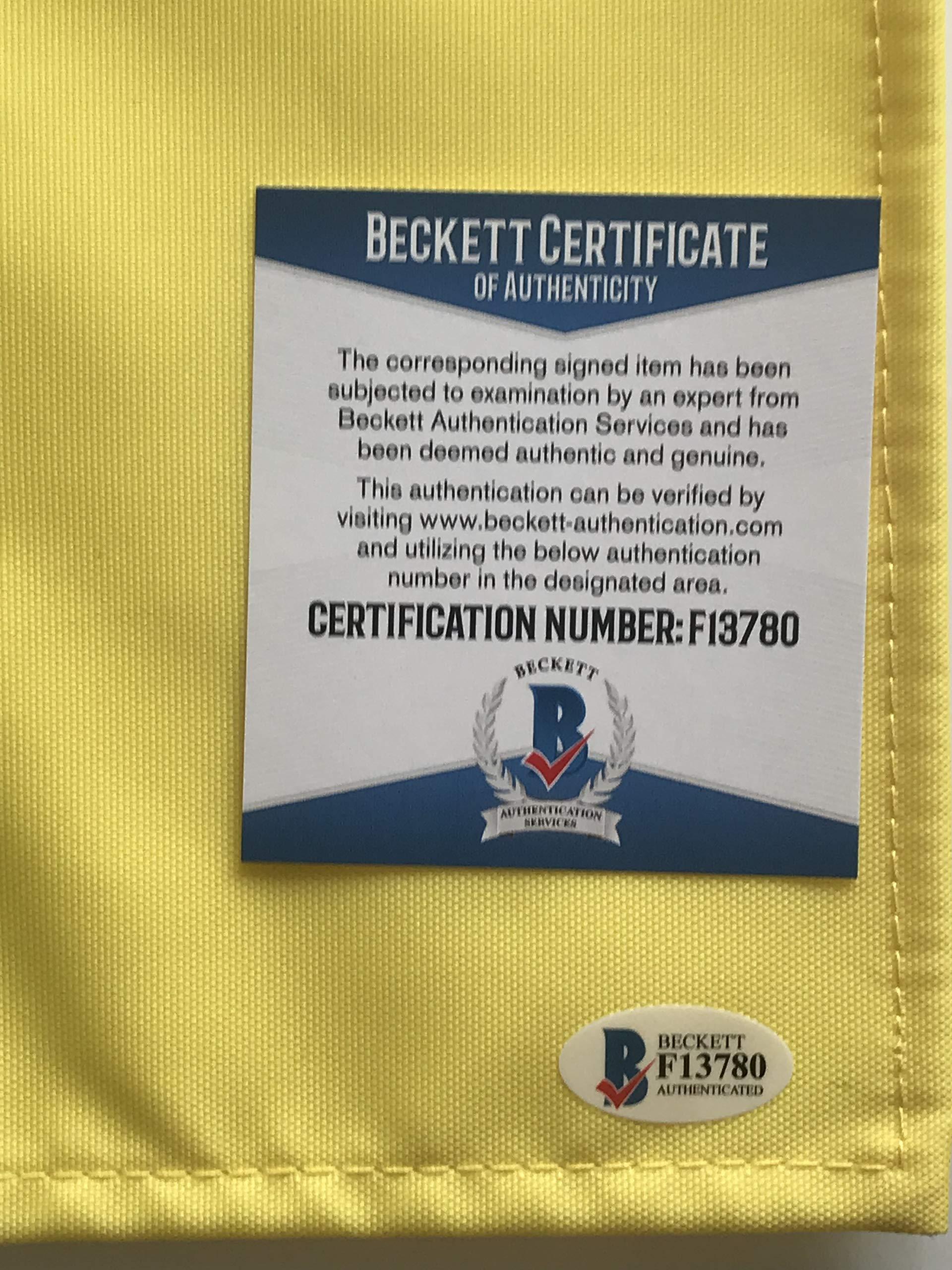 Gary Player signed Masters golf flag undated augusta national pga beckett coa