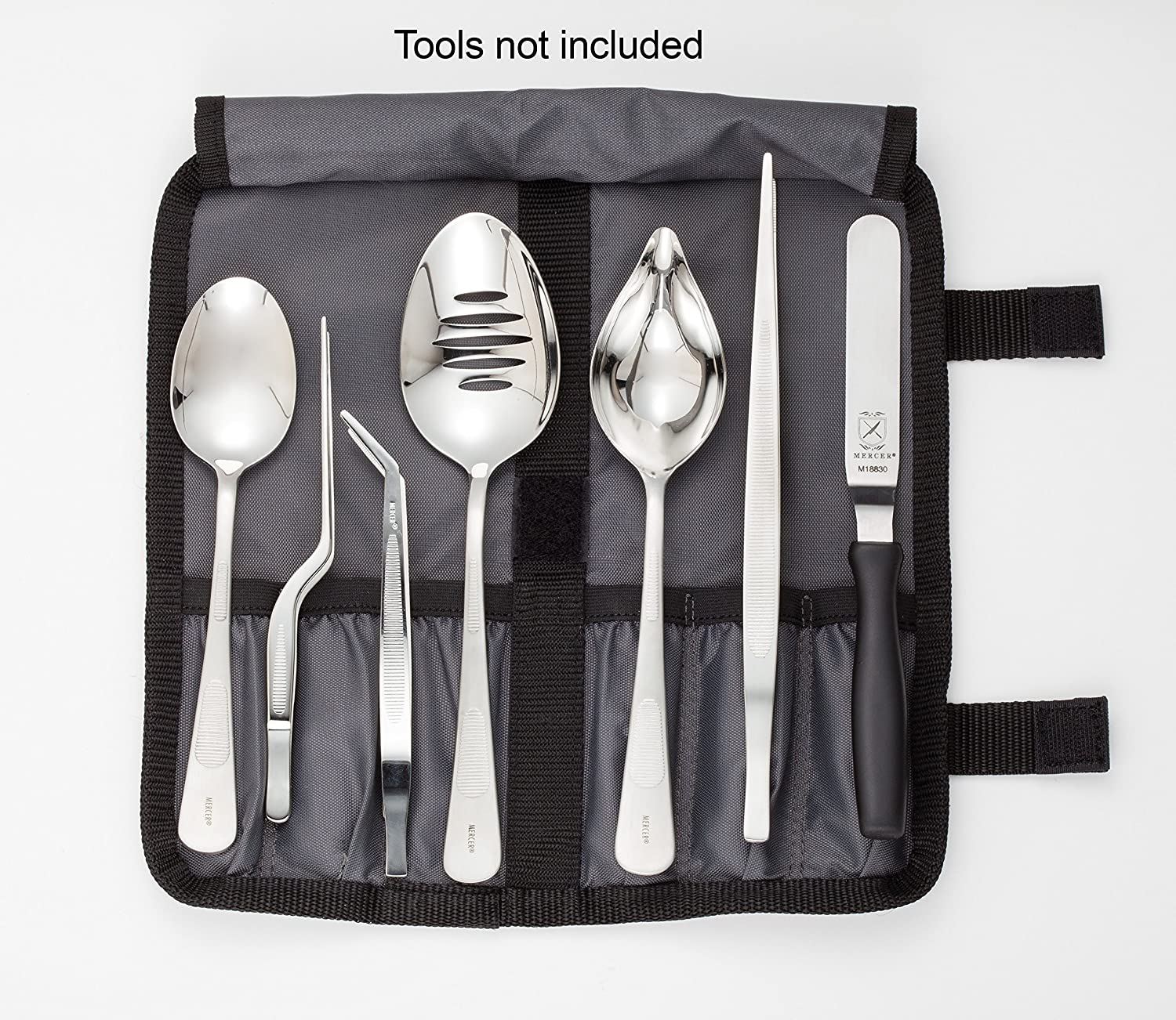 Mercer Culinary Deluke Plating Tongs Kit Stainless Steel 10 Pieces 12x12x3 cm