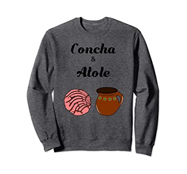 Unisex Concha & Atole Mexican Bread Beverage Pan Dulce Sweater 2XL Dark Heather