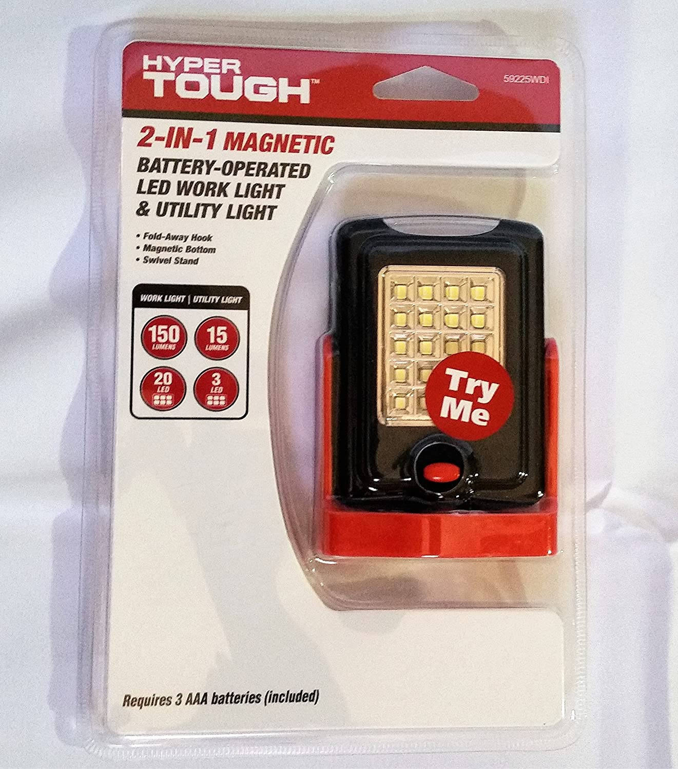 hyper tough 2 in 1 magnetic battery operated led work light
