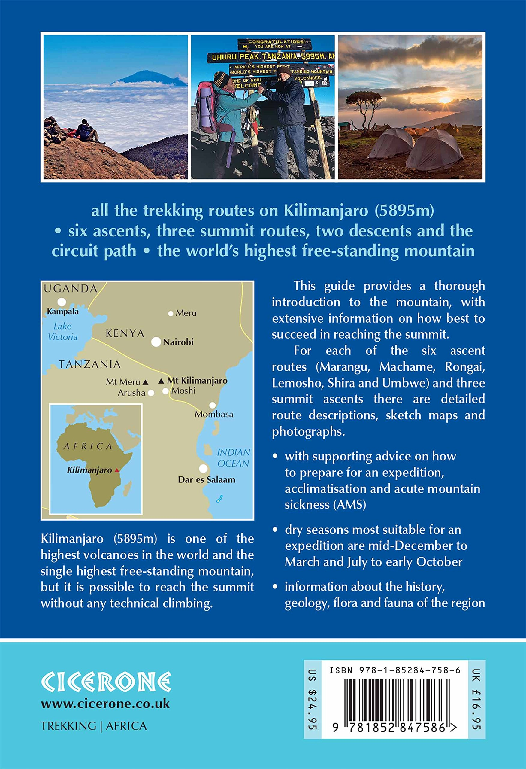 kilimanjaro a trekkers guide cicerone mountain walking s