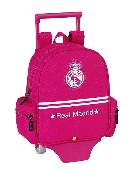 Real Madrid Mochila guardería con Ruedas, Color Rosa