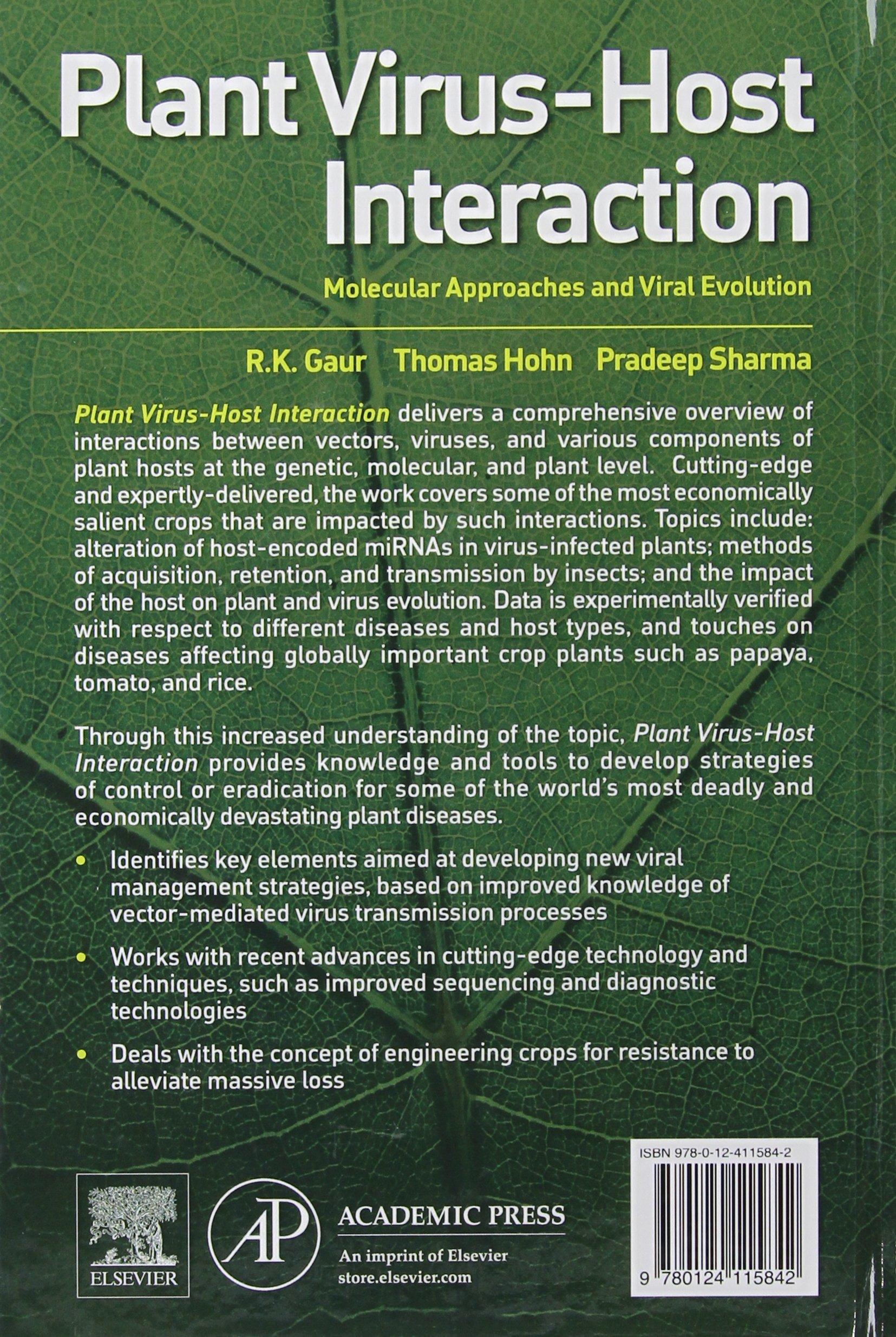 Plant Virus-Host Interaction: Molecular Approaches and Viral Evolution: Amazon.es: Gaur, R.K., Hohn Professor, Thomas, Sharma, Pradeep: Libros en idiomas extranjeros
