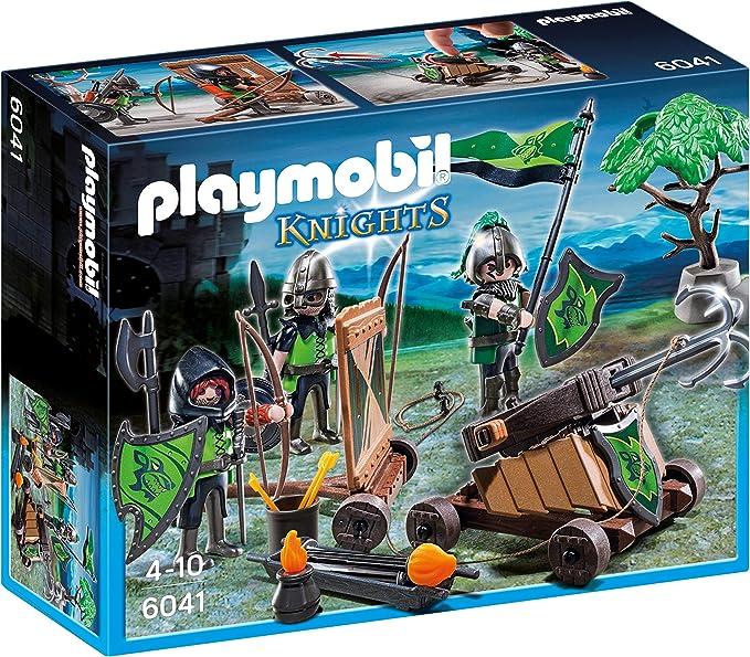 PLAYMOBIL Caballeros Caballeros playset con Figuras del Lobo y catapulta, 24.9 x 20.1 x 7.9 (6041): Amazon.es: Juguetes y juegos