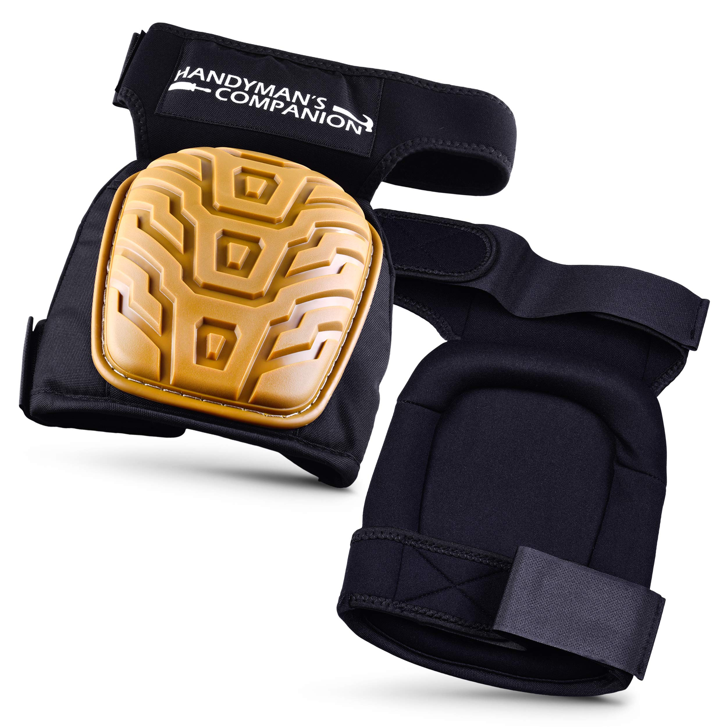 Handyman's Companion Heavy Duty Knee Pads for Work-Designed by a Concrete Finisher to Please your Knees when doing Construction, Flooring, Gardening, Cleaning