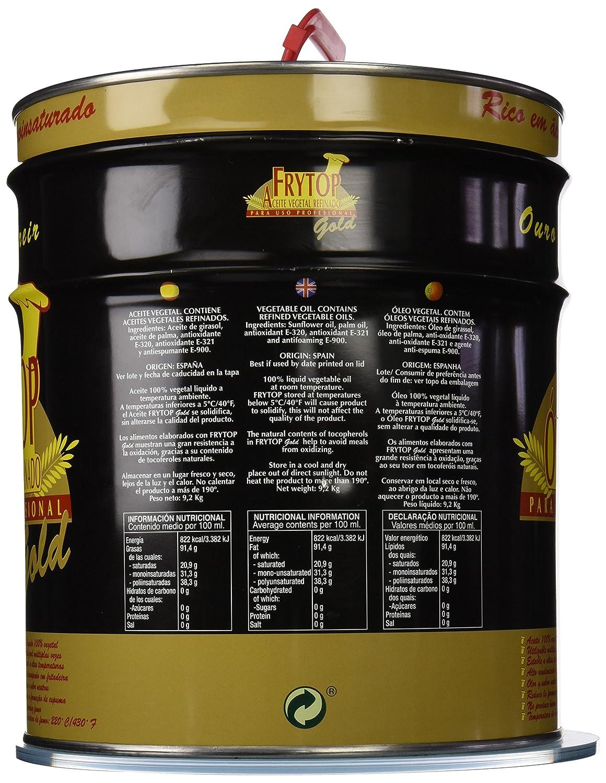 Frytop Aceite Freír Vegetal - 10000 ml: Amazon.es: Alimentación y ...