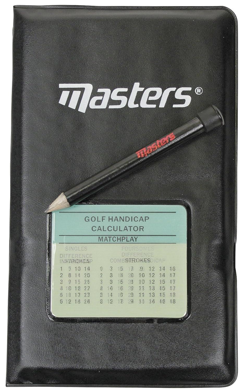Masters Deluxe - Soporte para tarjetas de puntuaciones de golf verde verde Talla:talla única