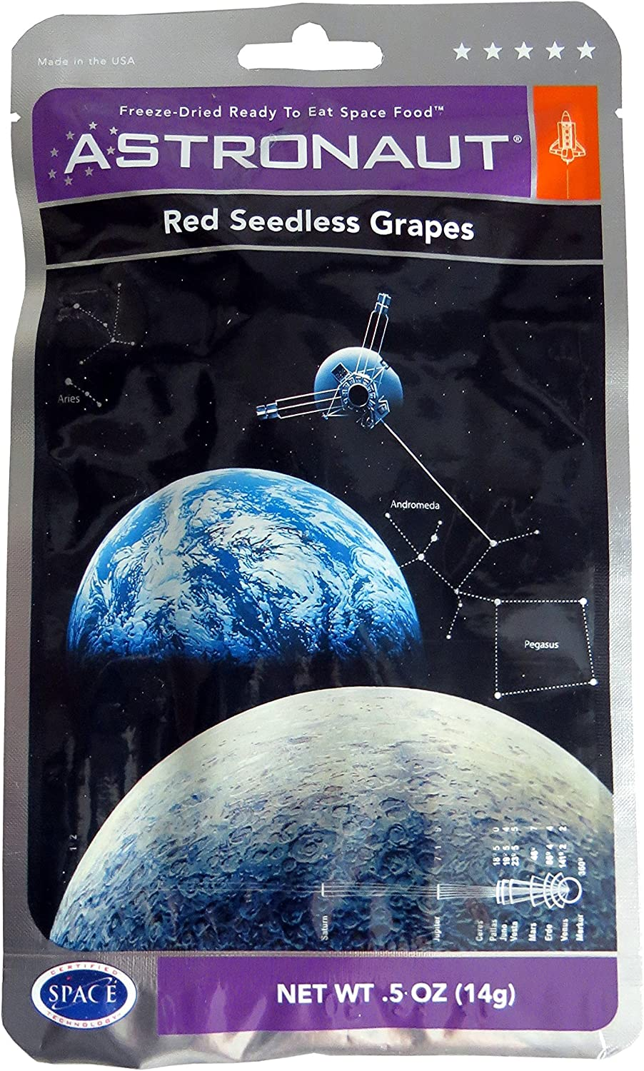 Astronaut Freeze Dried Grapes (Pouch)