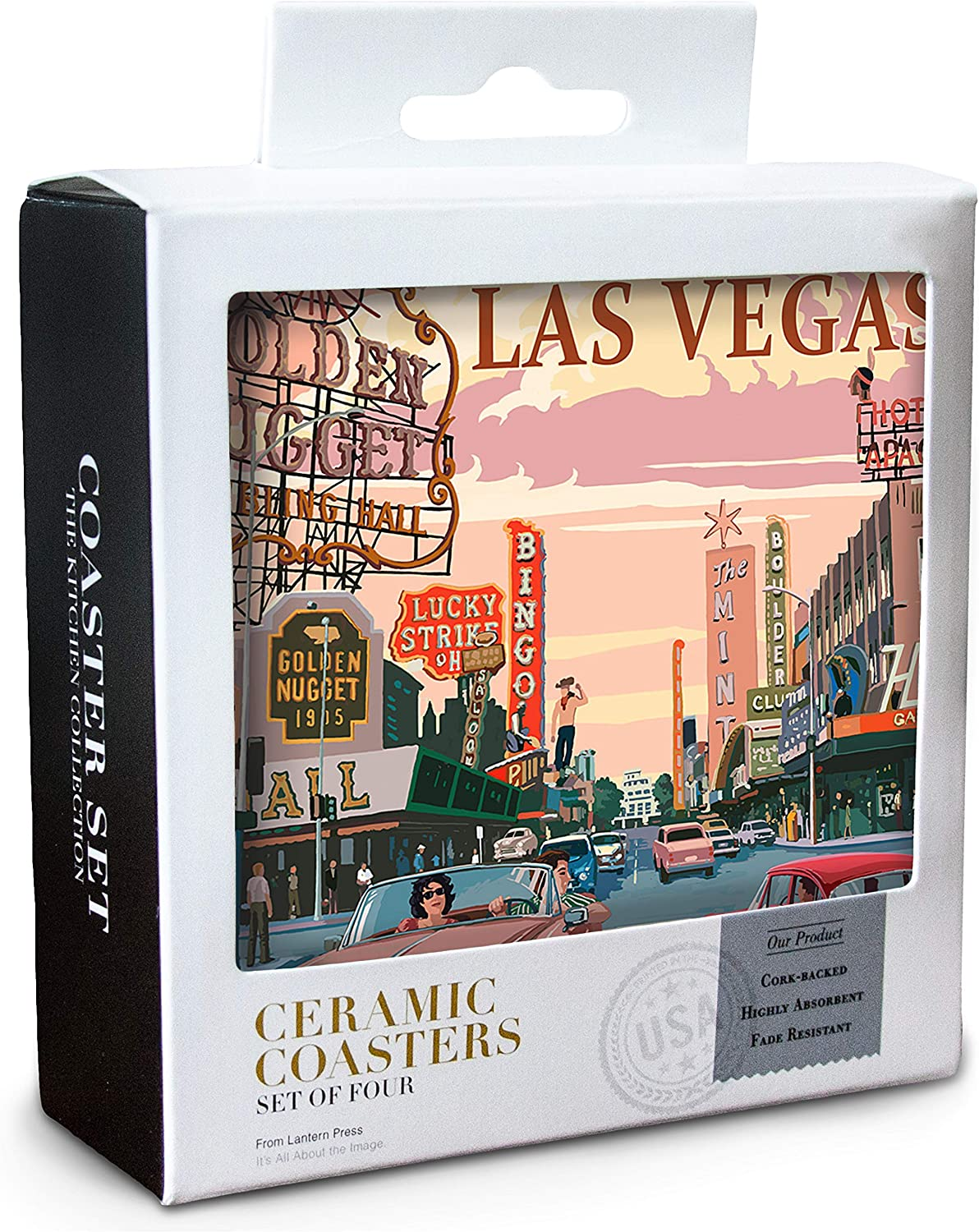 """4.5 or 6/"""" Artform Las Vegas Ceramic Collectors SILVER Plate w//Stand GREAT GIFT"""