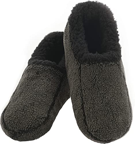 Mens Snoozies Two Tone Slippers Cozy Fleece Choice of Colours