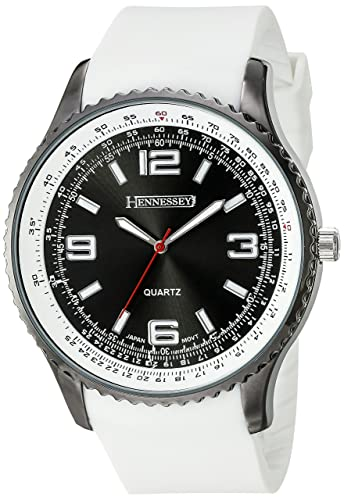 Hennessey Time Mens C2BR Analog Display Analog Quartz White Watch