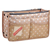 Vercord Updated Purse Handbag Organizer Insert Liner Bag in Bag 13 Pockets 3 Size Many Colors