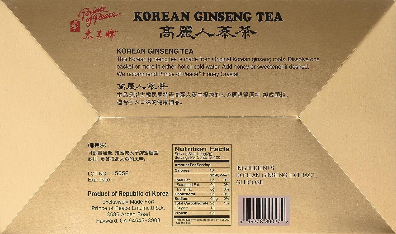Amazon Prince Of Peace Instant Korean Panax Ginseng Tea