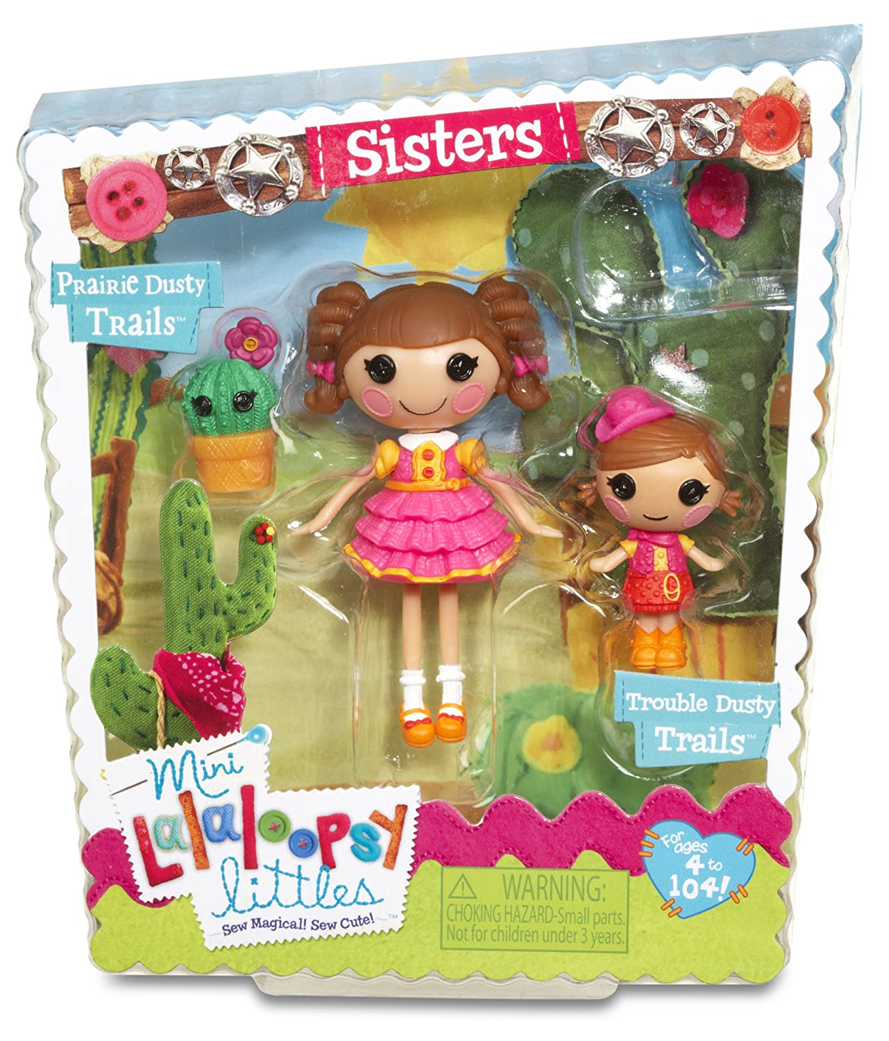 Amazon.com: Lalaloopsy Mini Littles Trouble Dusty Trails And Prairie Dusty  Trails Doll: Toys U0026 Games