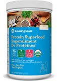 Amazing Grass Organic Plant Based Vegan Protein Superfood Powder, Flavor: Pure Vanilla, 341 Grams, Meal Replacement Shake
