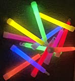 25x Power Knicklichter Bulk | 150x15 mm FETT und HELL Leuchtstäbe | 6 Farben Öse | Knicklichter Leuchtstäbe | Armreifen Glowstick | Partylichter Neon | rot gelb grün pink orange blau
