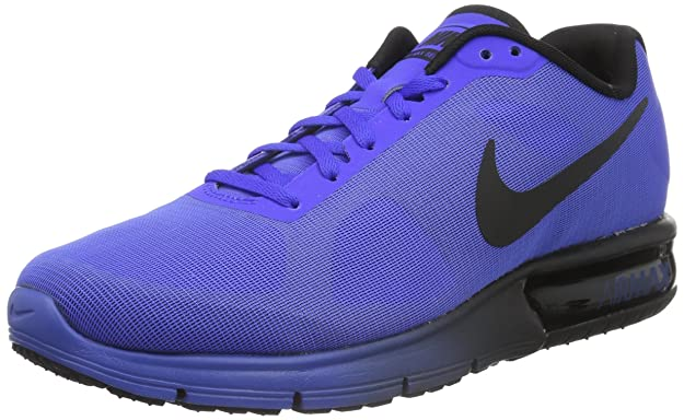 Amazon.com | NIKE Mens Air Max Sequent Running Shoe Racer Blue/Black 46 EU | Road Running