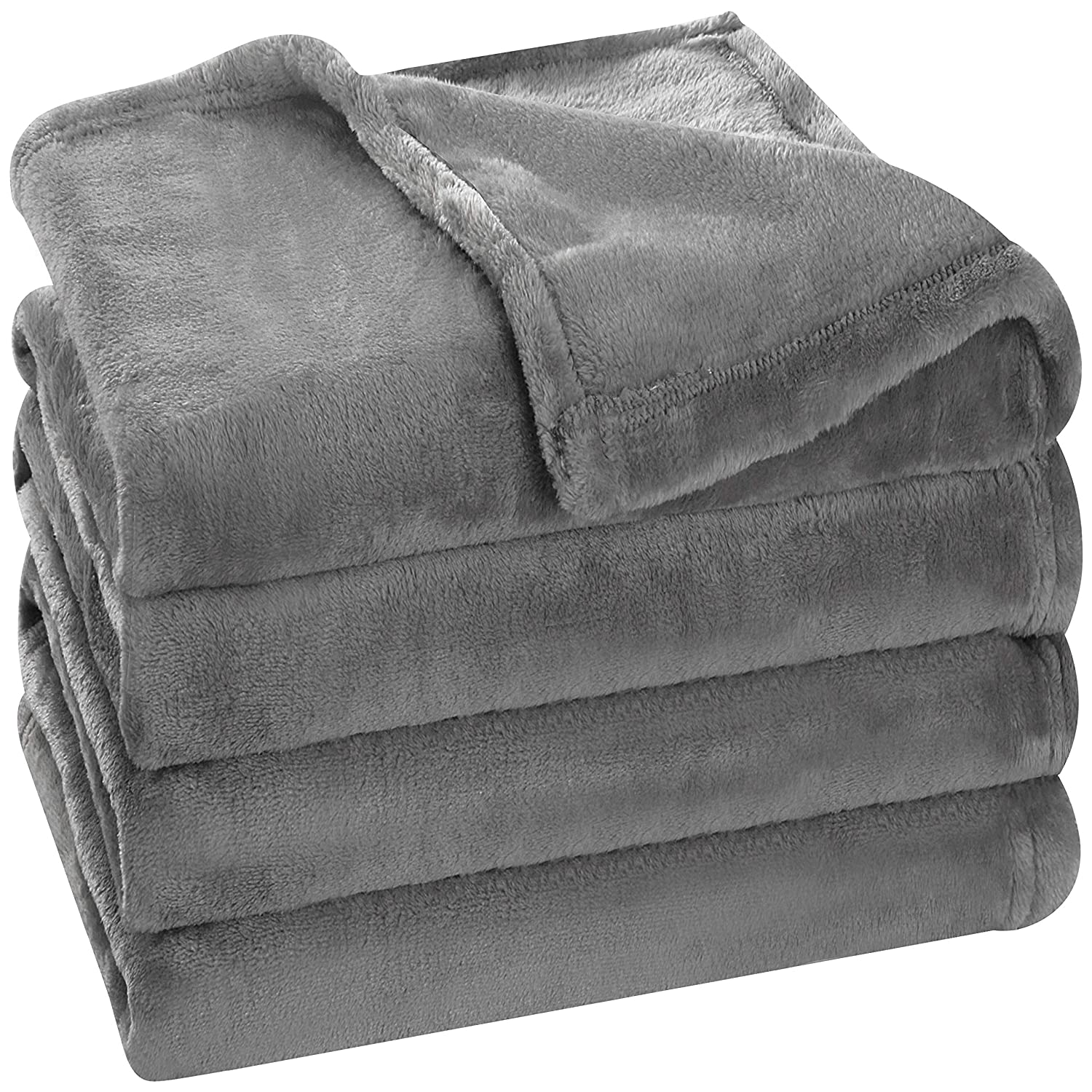 Utopia Bedding Fleece Blanket Twin Size Grey Luxury Bed Blanket Fuzzy Soft Blanket Microfiber