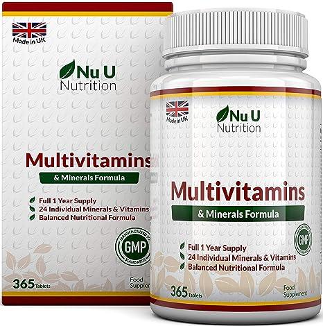 d52464d4292179 MultiVitamins & Minerals Formula | 24 complemento vitamínico (Vitaminas y  Minerales | végétarien | hombre