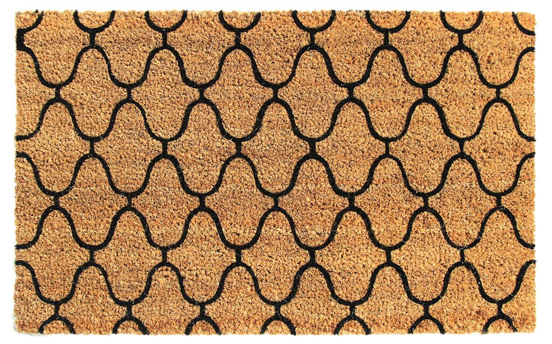 Buy Onlymat 2 Piece packet Brown Black Natural Coir Doormat 75 cm ...