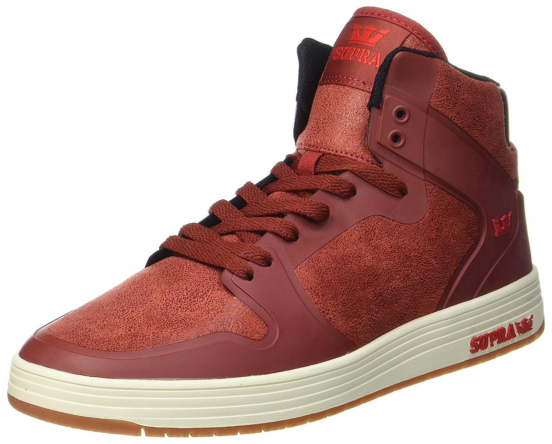 Supra Vaider 2.0 Men Round Toe Synthetic Black Skate Shoe 10.5 M US|Brick-bone