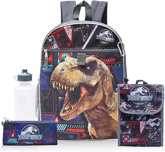 Jurassic World Backpack Students Schoolbag Set Lunch Bag Pen Bag 4PCS Kids Gifts