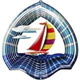 Iron Stop Windspiel Designer Windspiel Segelboot, 25cm